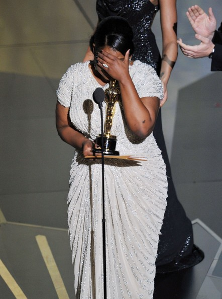 Actress Octavia Spencer accepts the Best Supporting Actress Award for 'The Help' onstage during the 84th Annual Academy Awards held at the Hollywood & Highland Center on February 26, 2012 in Hollywood, California.