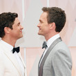 Neil Patrick Harris and David Burtka engaged in a staring contest.