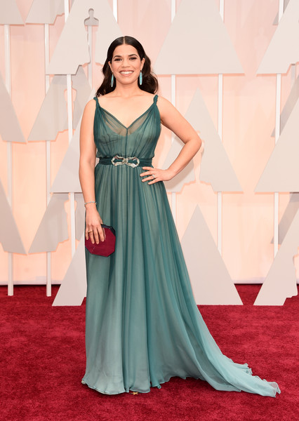Actress America Ferrera attends the 87th Annual Academy Awards at Hollywood & Highland Center on February 22, 2015 in Hollywood, California.
