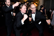 (L-R)  Roy Conli, Don Hall, and Chris Williams, winners of the Best Animated Feature Award for 'Big Hero 6 attends the 87th Annual Academy Awards Governors Ball at Hollywood & Highland Center on February 22, 2015 in Hollywood, California.