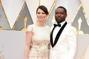 Actor David Oyelowo and Jessica Oyelowo arrive on the red carpet for the 89th Oscars on February 26, 2017 in Hollywood, California.  / AFP / VALERIE MACON