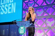 Presenter Miss USA Oliva Jordan speaks onstage at The 8th Annual Shorty Awards at The Times Center on April 11, 2016 in New York City.