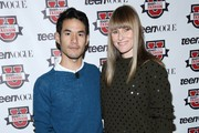 Designer Joseph Altuzarra (L) and Amy Astley attend the 8th Annual Teen Vogue University on October 19, 2013 in New York City.