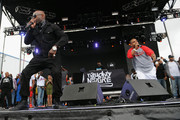 (L-R) Treach, DJ Kay Gee and Vin Rock of Naughty by Nature performs at 90sFEST Pop Culture and Music Festival on September 12, 2015 in Brooklyn, New York.