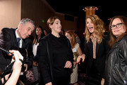 Producer Megan Ellison, actor Laura Dern attend the 90th Annual Academy Awards Nominee Luncheon at The Beverly Hilton Hotel on February 5, 2018 in Beverly Hills, California.