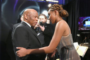 In this handout provided by A.M.P.A.S., Presenters U.S. Representative John Lewis (L) and Amandla Stenberg prepare backstage during the 91st Annual Academy Awards at the Dolby Theatre on February 24, 2019 in Hollywood, California.