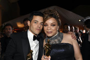 Rami Malek (L) and Ruth E. Carter attend the 91st Annual Academy Awards Governors Ball at Hollywood and Highland on February 24, 2019 in Hollywood, California.