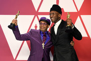 "(L-R) Writer-director Spike Lee, winner of Best Adapted Screenplay for ""BlacKkKlansman,"" and Mahershala Ali, winner of Best Supporting Actor for ""Green Book,"" pose in the press room during the 91st Annual Academy Awards at Hollywood and Highland on February 24, 2019 in Hollywood, California."