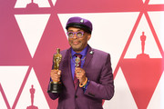 "Director-writer Spike Lee, winner of Best Adapted Screenplay for ""BlacKkKlansman,"" poses in the press room during the 91st Annual Academy Awards at Hollywood and Highland on February 24, 2019 in Hollywood, California."