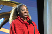 Presenter Serena Williams speaks during the 91st Annual Academy Awards rehearsals at Hollywood and Highland on February 23, 2019 in Hollywood, California.
