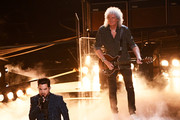(L-R) Adam Lambert and Brian May of Queen perform onstage during the 91st Annual Academy Awards at Dolby Theatre on February 24, 2019 in Hollywood, California.