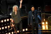 (L-R) Brian May of Queen and Adam Lambert perform onstage during the 91st Annual Academy Awards at Dolby Theatre on February 24, 2019 in Hollywood, California.