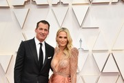 (L-R) Scott Stuber and Molly Sims attend the 92nd Annual Academy Awards at Hollywood and Highland on February 09, 2020 in Hollywood, California.