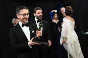 In this handout photo provided by A.M.P.A.S. Best Sound Mixing award winner Mark Taylor poses backstage during the 92nd Annual Academy Awards at the Dolby Theatre on February 09, 2020 in Hollywood, California.