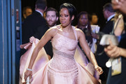 In this handout photo provided by A.M.P.A.S. Regina King looks on backstage during the 92nd Annual Academy Awards at the Dolby Theatre on February 09, 2020 in Hollywood, California.