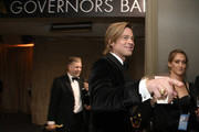 """Brad Pitt, winner of the Actor in a Supporting Role award for """"Once Upon a Time…in Hollywood,"""" attends the 92nd Annual Academy Awards Governors Ball at Hollywood and Highland on February 09, 2020 in Hollywood, California."""