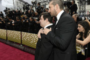 Shia LaBeouf (R) and Zack Gottsagen attend the 92nd Annual Academy Awards at Hollywood and Highland on February 09, 2020 in Hollywood, California.