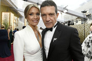 (L-R) Nicole Kimpel and Antonio Banderas attend the 92nd Annual Academy Awards at Hollywood and Highland on February 09, 2020 in Hollywood, California.