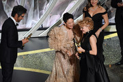 (L-R) Ray Romano and Sandra Oh present the Makeup and Hairstyling award for 'Bombshell' to Vivian Baker onstage during the 92nd Annual Academy Awards at Dolby Theatre on February 09, 2020 in Hollywood, California.