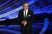 Director Steven Spielberg speaks onstage during the 92nd Annual Academy Awards at Dolby Theatre on February 09, 2020 in Hollywood, California.