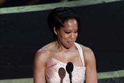 Regina King speaks onstage during the 92nd Annual Academy Awards at Dolby Theatre on February 09, 2020 in Hollywood, California.