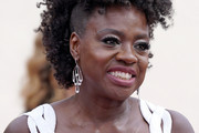 LOS ANGELES, CALIFORNIA – APRIL 25: Viola Davis, earing detail, attends the 93rd Annual Academy Awards at Union Station on April 25, 2021 in Los Angeles, California.