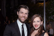 (L-R) Liam McIntyre and Erin Hasan attend the 9th AACTA International Awards at Mondrian Los Angeles on January 03, 2020 in West Hollywood, California.