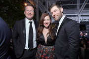 (L-R) AACTA CEO Damian Trewhella, Erin Hasan, and Liam McIntyre attend the 9th AACTA International Awards at Mondrian Los Angeles on January 03, 2020 in West Hollywood, California.