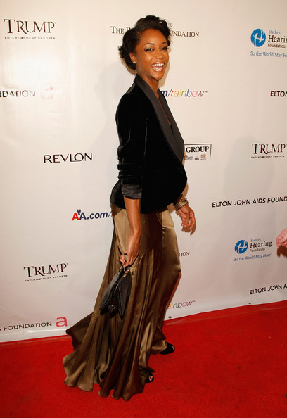 "Yaya DaCosta attends the 9th Annual Elton John AIDS Foundation's ""An"