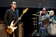 (L-R) Musicians Robert DeLeo, Chester Bennington and Eric Kretz perform at the 9th Annual MusiCares MAP Fund Benefit Concert at Club Nokia on May 30, 2013 in Los Angeles, California.