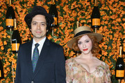 Geoffrey Arend and Christina Hendricks attend the 9th Annual Veuve Clicquot Polo Classic Los Angeles at Will Rogers State Historic Park on October 6, 2018 in Pacific Palisades, California.