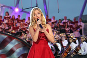 Classical crossover star Jackie Evancho performs at A Capitol Fourth concert at the U.S. Capitol, West Lawn, on July 4, 2016 in Washington, DC.