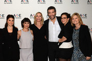(L-R) Shiri Appleby, Constance Zimmer, Liz Gateley, Sarah Gertrude Shapiro, Craig Bierko, Marti Noxon and Carol Barbee attend the A+E Networks 2016 Television Critics Association Press Tour for UnREAL at The Langham Huntington Hotel and Spa on January 6, 2016 in Pasadena, California.