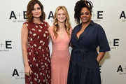 (L-R) Actors Betsy Brandt, Marin Ireland, and Jill Scott of 'Flint' at the Lifetime and A+E Networks portion of the 2017 Summer Television Critics Association Press Tour at The Beverly Hilton Hotel on July 28, 2017 in Beverly Hills, California.