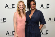 (L-R) Actors Marin Ireland and Jill Scott of 'Flint' at the Lifetime and A+E Networks portion of the 2017 Summer Television Critics Association Press Tour at The Beverly Hilton Hotel on July 28, 2017 in Beverly Hills, California.