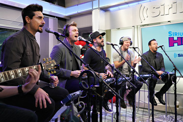 A.J. McLean Backstreet Boys Perform Live On SiriusXM Hits 1 At The SiriusXM Studios In New York City