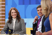 "MATCH GAME - Debra Winger is a guest on ""Good Morning America,"" on Monday, May 8, 2017 airing on the ABC Television Network. (Photo by Lou Rocco/ABC via Getty Images).DEBRA WINGER, GEORGE STEPHANOPOULOS, LARA SPENCER"