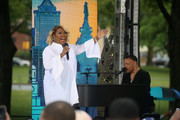 "Patti LaBelle performs on ABC's ""Good Morning America"" Live From Philadelphia broadcast at the steps of the Philadelphia Art Museum on June 13, 2019 in Philadelphia, Pennsylvania."