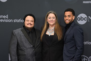 (L-R)  Adrian Martinez, Camryn Manheim and Micheal Ealy attend the ABC Walt Disney Television Upfront on May 14, 2019 in New York City.