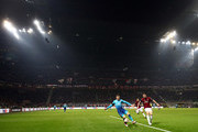 Aaron Ramsey of Arsenal in a general view during the UEFA Europa League Round of 16 match between AC Milan and Arsenal at the San Siro on March 8, 2018 in Milan, Italy.