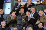 Giuseppe Rossi of Genoa CFC greets his former ACF Fiorentina supporters during the Serie A match betweenACF Fiorentina and Genoa CFC at Stadio Artemio Franchi on December 17, 2017 in Florence, Italy.