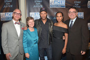 (L-R) Honorees James Obergefell, Mary L. Bonauto, Tom Morello and Kerry Washington and Executive Director of the ACLU of Southern California Hector Villagra attend the ACLU SoCal Hosts 2015 Bill Of Rights Dinner at the Beverly Wilshire Four Seasons Hotel on November 8, 2015 in Beverly Hills, California.
