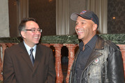 Executive Director of the ACLU of Southern California Hector Villagra (L) and honoree Tom Morello attend the ACLU SoCal Hosts 2015 Bill Of Rights Dinner at the Beverly Wilshire Four Seasons Hotel on November 8, 2015 in Beverly Hills, California.