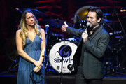 Colbie Caillat of the band Gone West (L) and Charles Esten onstage at ACM Lifting Lives Presents: Borderline Strong Concert at Thousand Oaks Civic Arts Plaza on February 11, 2019 in Thousand Oaks, California.