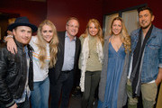 Jason Reeves, Nelly Joy, Colbie Caillat, and Justin Young of the band Gone West with Pete Fisher and Hope Fisher (C) attends ACM Lifting Lives Presents: Borderline Strong Concert at Thousand Oaks Civic Arts Plaza on February 11, 2019 in Thousand Oaks, California.