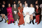 (L-R) Zoe Chao, Nesta Cooper, Molly Gordon, Angela Sarafyan, Dove Cameron, Jamie Chung and Calu Rivero attend the ADEAM Fall | Winter 2020 SHOW at the High Line Hotel on February 10, 2020 in New York City.