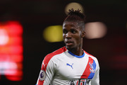 Wilfried Zaha of Crystal Palace during the Premier League match between AFC Bournemouth and Crystal Palace at Vitality Stadium on October 1, 2018 in Bournemouth, United Kingdom.