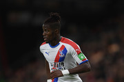 Wilfried Zaha of Crystal Palace in action during the Premier League match between AFC Bournemouth and Crystal Palace at Vitality Stadium on October 1, 2018 in Bournemouth, United Kingdom.