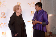 Former Secretary of State Madeleine Albright and Librarian of Congress Dr. Carla Hayden attend the AFI 50th Anniversary Gala at The Library of Congress on November 1, 2017 in Washington, DC.