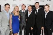"""(L-R) Producers Alex Orlovsky, Lynette Howell, actor Ryan Gosling, Director Derek Cianfrance, Producer Jamie Patricof and actor Mike Vogel arrive at the """"Blue Valentine"""" screening during AFI FEST 2010 presented by Audi held at Grauman's Chinese Theatre on November 6, 2010 in Hollywood, California."""